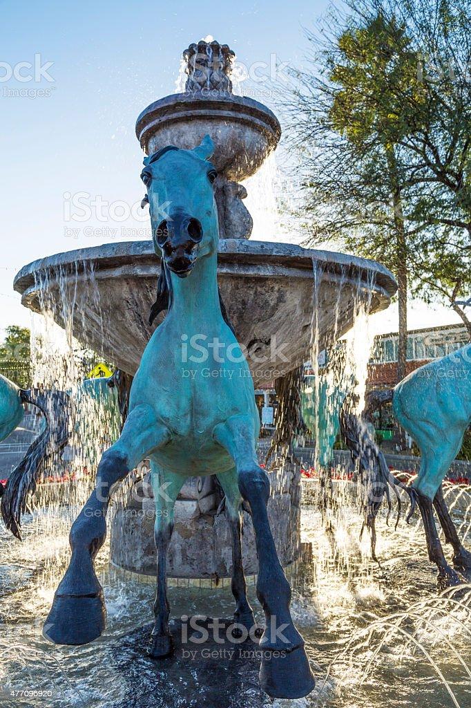 Famous Fountain in Scottsdale Arizona stock photo