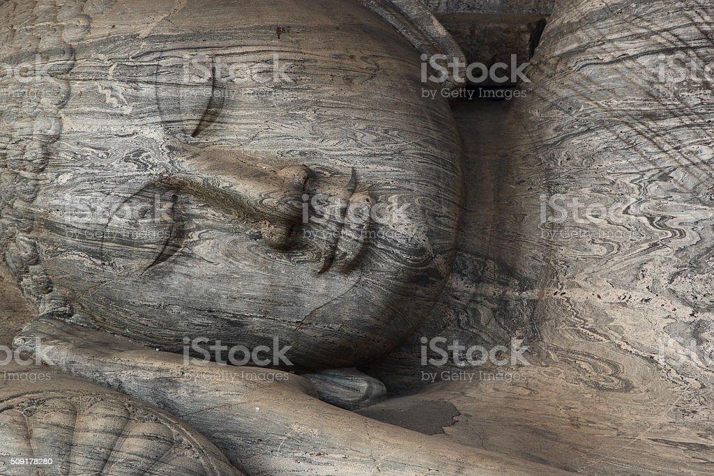 Famous Gal Vihara Buddha statue stock photo