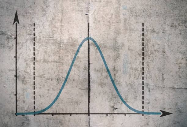 famous gauss curve - curve stock photos and pictures