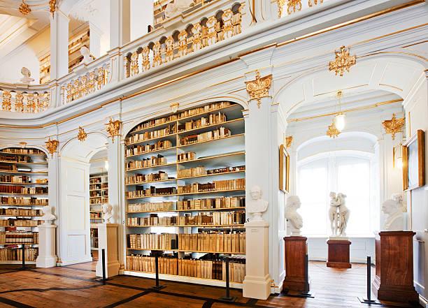 berühmte deutsche bibliothek - deutsche bibliothek stock-fotos und bilder