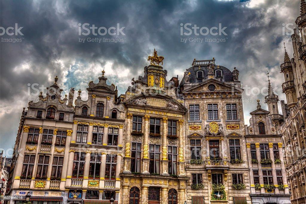 famous Grand Place Brussels Belgium – Foto