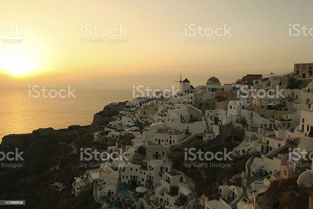Famous Greek Sunset royalty-free stock photo