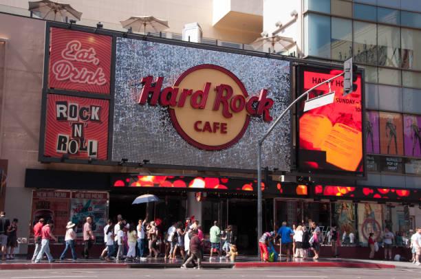 Berühmtes Hard Rock Cafe auf Hollywood Blvd. in Los Angeles – Foto