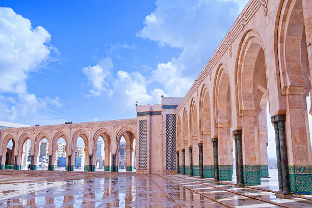 Famous Hassan II Mosque in Casablanca, Morocco, Africa stock photo