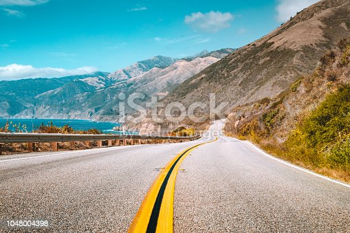 istock Famous Highway 1 at Big Sur, California Central Coast, USA 1048004398