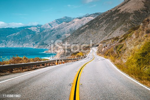 istock Famous Highway 1 at Big Sur, California Central Coast, USA 1145661962