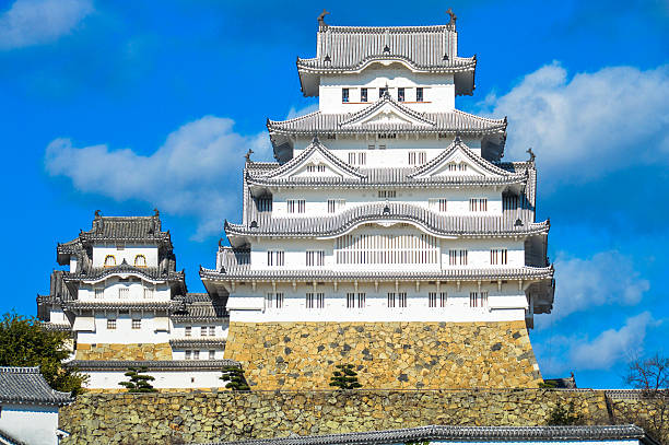 Famous Himeji Castle in Japan used by Shoguns and Samurais stock photo