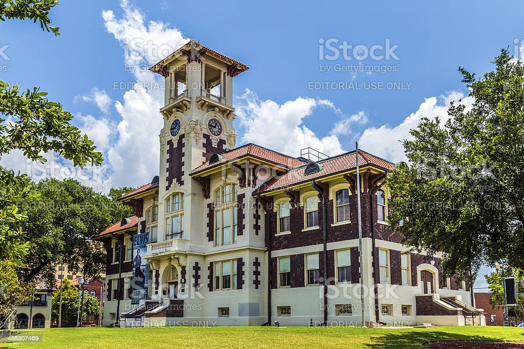famous historic city hall in Lake Charles stock photo