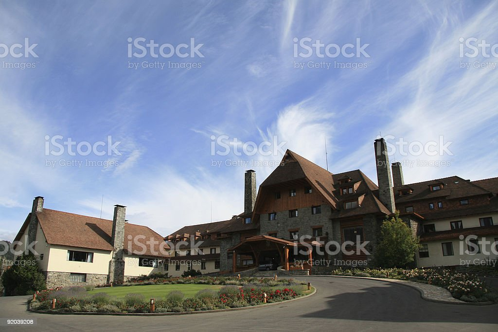 Famous hotel in Bariloche, Argentina royalty-free stock photo