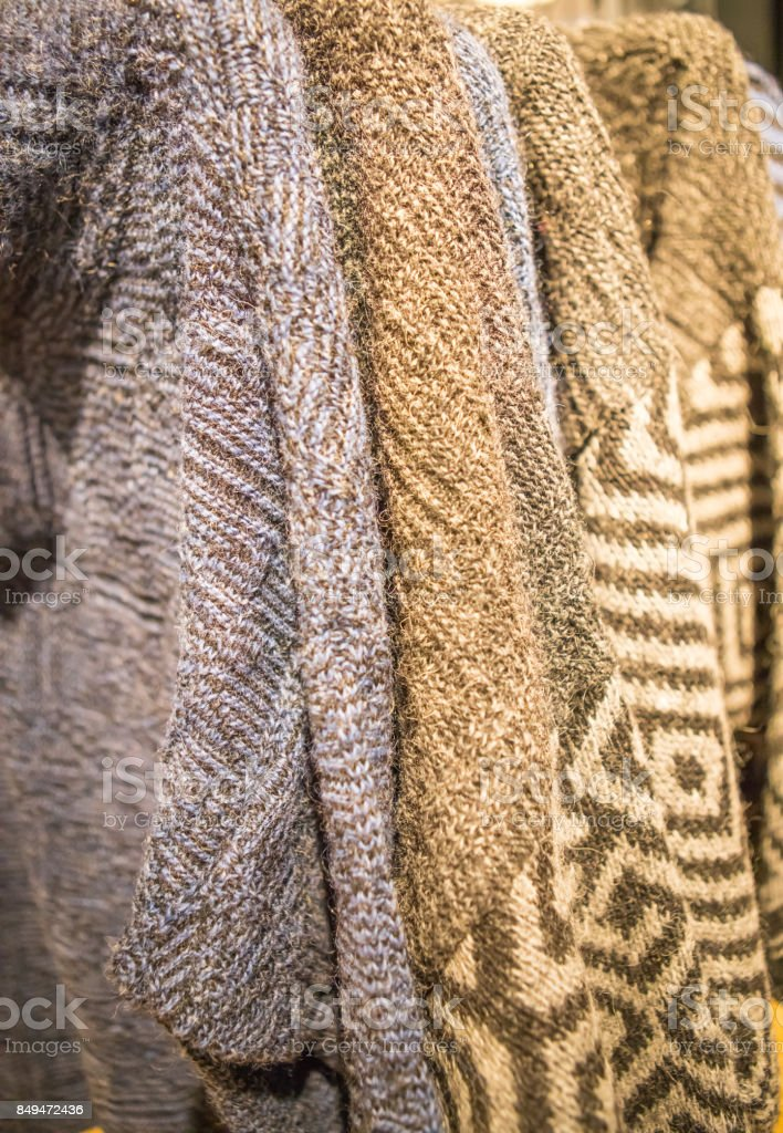 Famous Icelandic Pure Wool Sweaters For Sale Stock Photo More