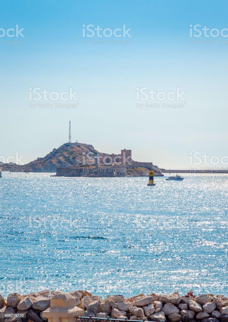 Famous If castle, chateau d'If, Marseille, France stock photo