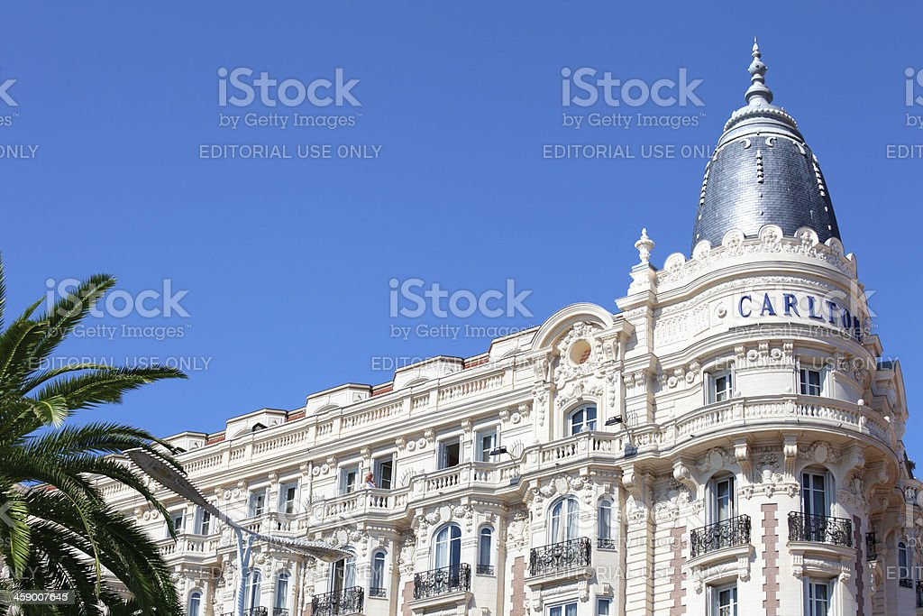Famous Intercontinental hotel in Cannes, France royalty-free stock photo