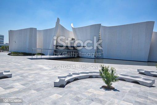 Puebla, Mexico-20 April, 2017:Famous International Museum of the Baroque