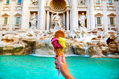 istock Famous Italian Gelato at Trevi Fountain Rome 1037362838