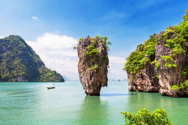 Famous James Bond island near Phuket stock photo