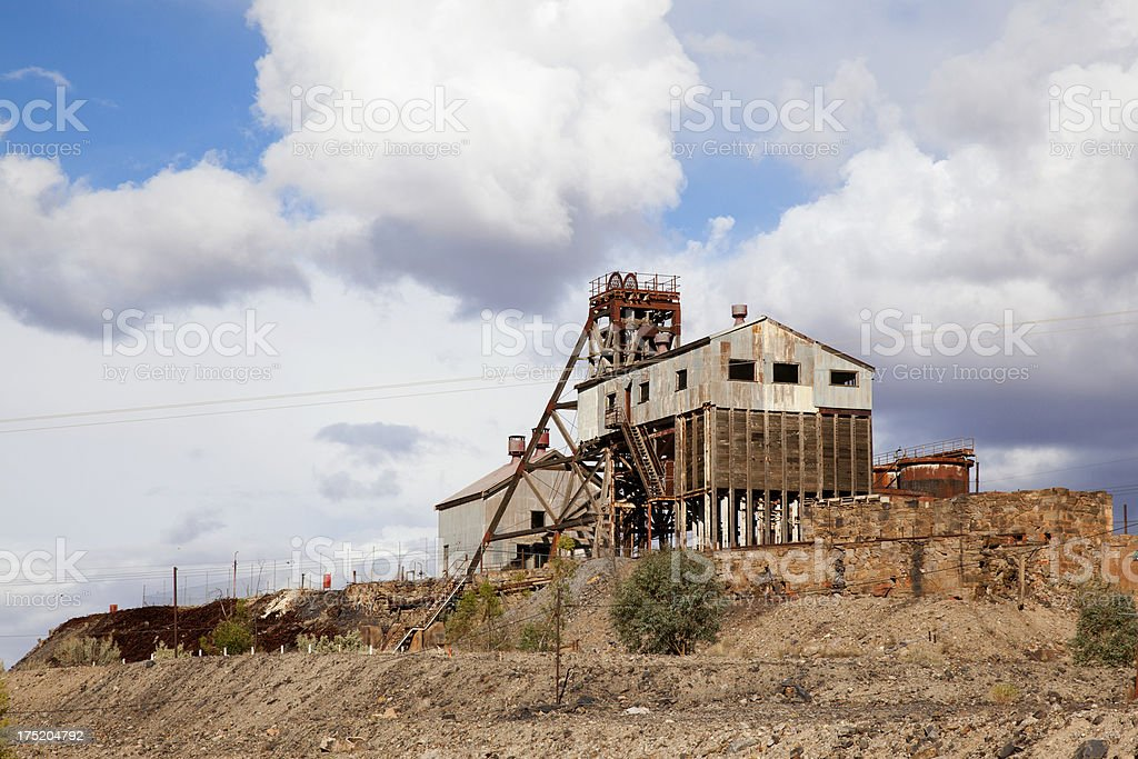 Famous Junction Mine at Broken Hill, established 1890s stock photo