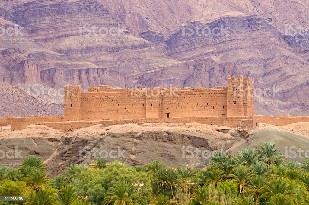 Famous kasbah Oulad, Morocco stock photo