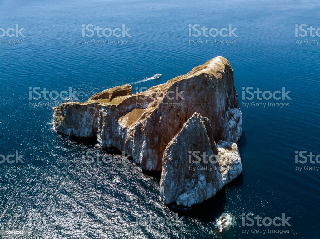 Berühmte Kicker Rock nächsten Insel San Cristobal, Galapagos, Ecuador – Foto
