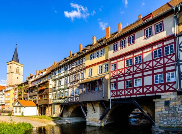 berühmte Kramerbrücke in Erfurt - Deutschland – Foto
