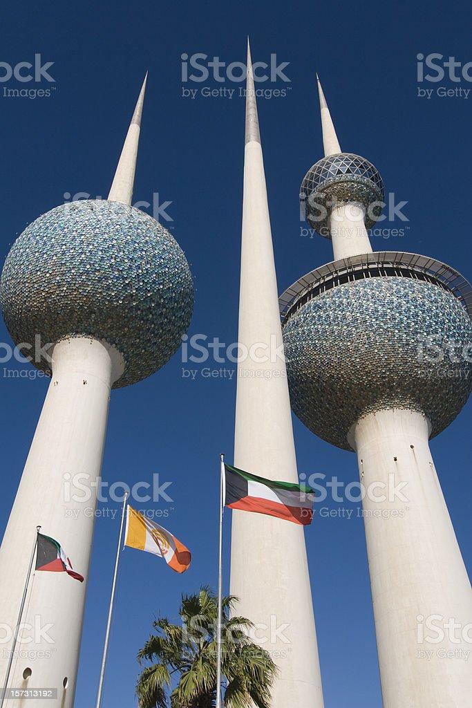 Famous Kuwait Towers royalty-free stock photo