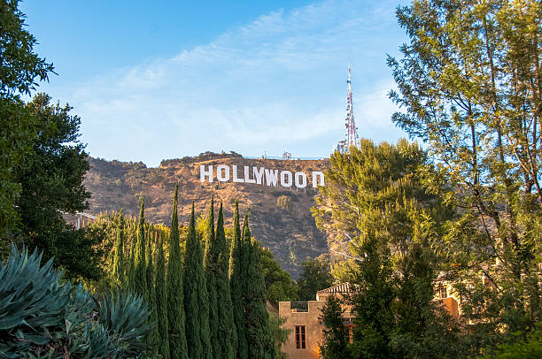Famous landmark Hollywood Sign in Los Angeles, California. Los Angeles, California, USA - June 15, 2014: Famous landmark Hollywood Sign in Los Angeles, California. hollywood california stock pictures, royalty-free photos & images