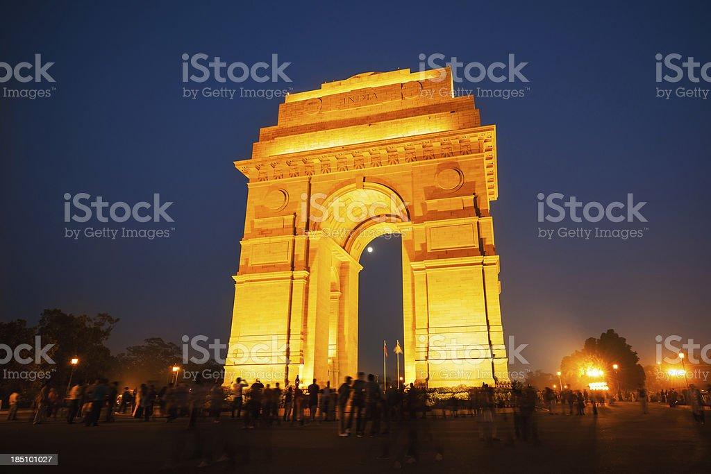 Famous Landmark India Gate New Dehli royalty-free stock photo