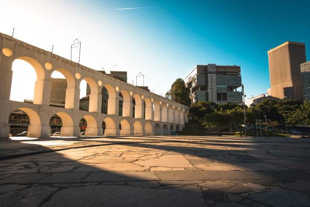 Famous Lapa Arch in Rio de Janeiro stock photo