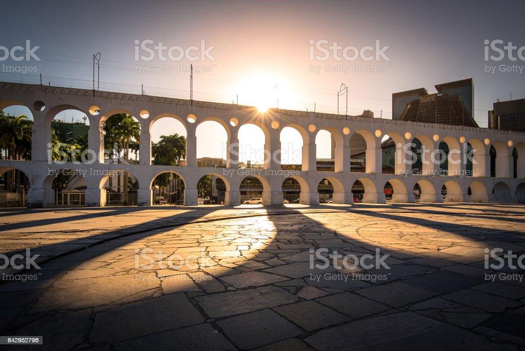 Famoso Arco de Lapa, no Rio de Janeiro - foto de acervo