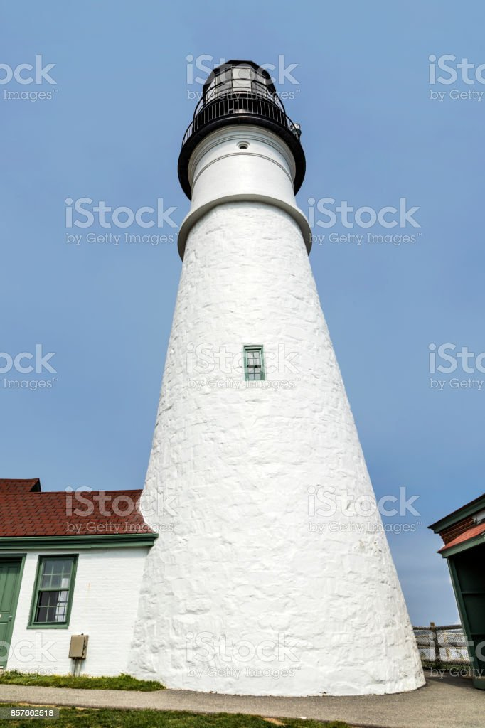 famous lighthouse in Portland stock photo