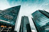 Famous London Financial District Buildings, UK