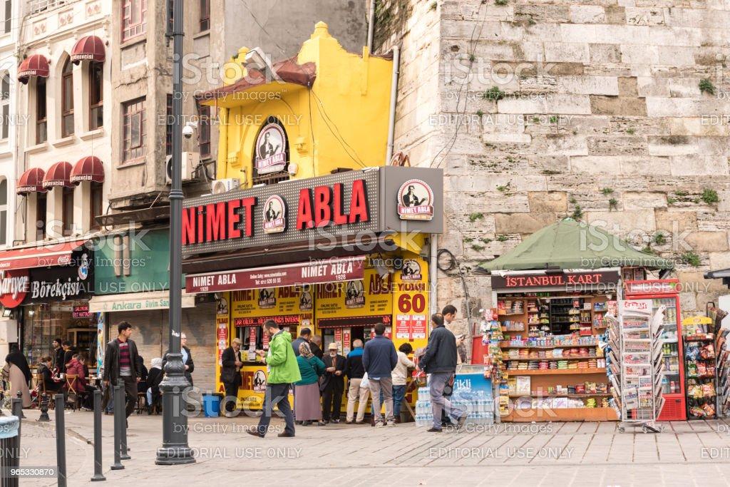 Célèbre vendeur de loterie, négociant à Istanbul, Turquie - Photo de Adulte libre de droits