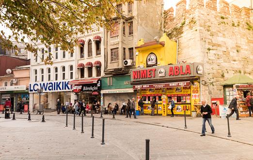 著名彩票賣家 轉銷商在伊斯坦布爾 土耳其 照片檔及更多 人 照片