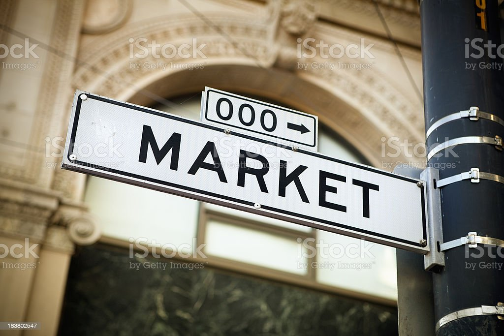 Famous Market Street road sign royalty-free stock photo