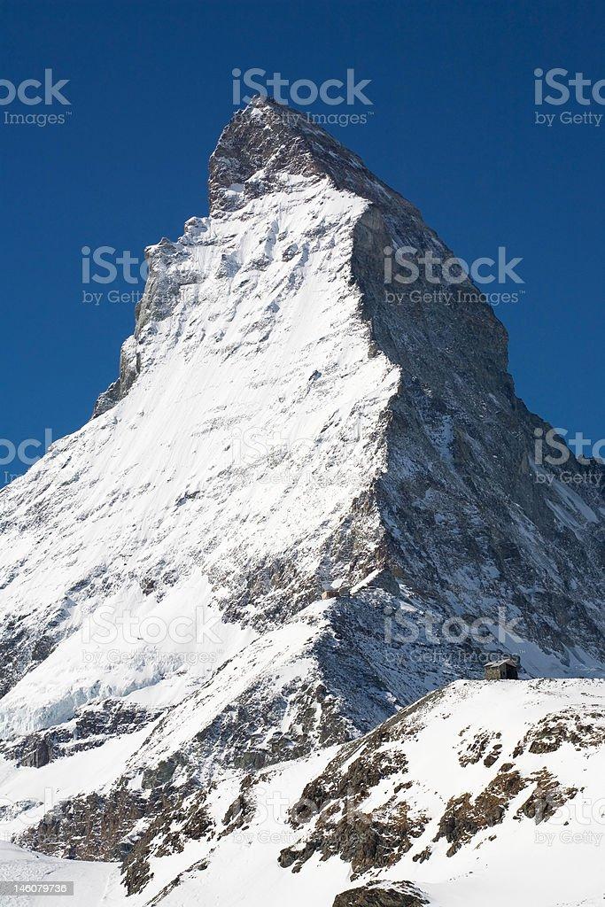 Famous Matterhorn. Swiss side royalty-free stock photo