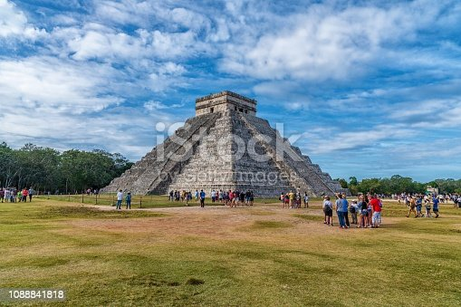 Famous Mayan ruins of Chichen Itza in Mexico