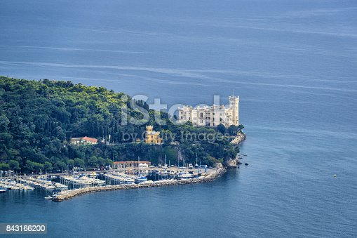 istock Famous Miramare castle on the Adriatic Sea coast 843166200