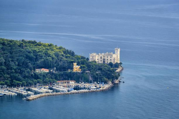 Famous Miramare castle on the Adriatic Sea coast