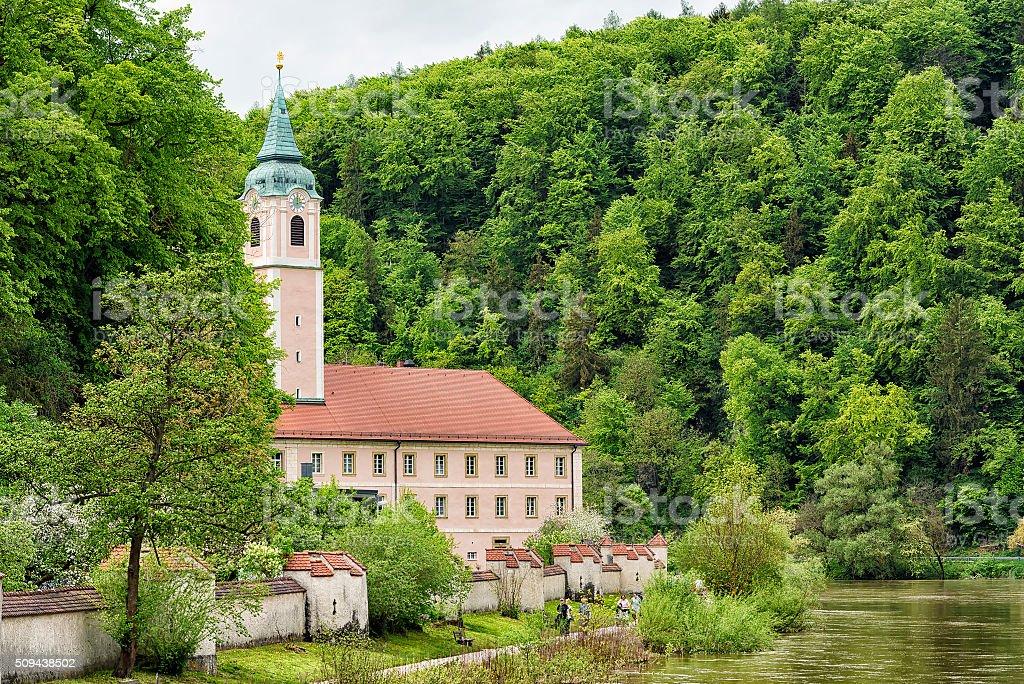 famous monastery Weltenburg stock photo