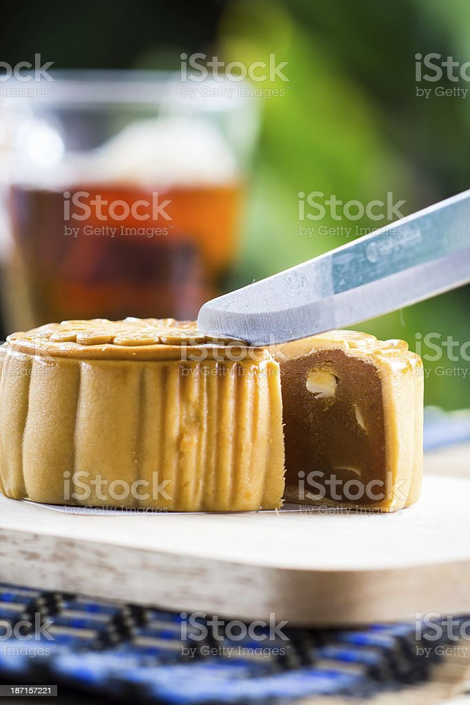 Famous moon cake royalty-free stock photo