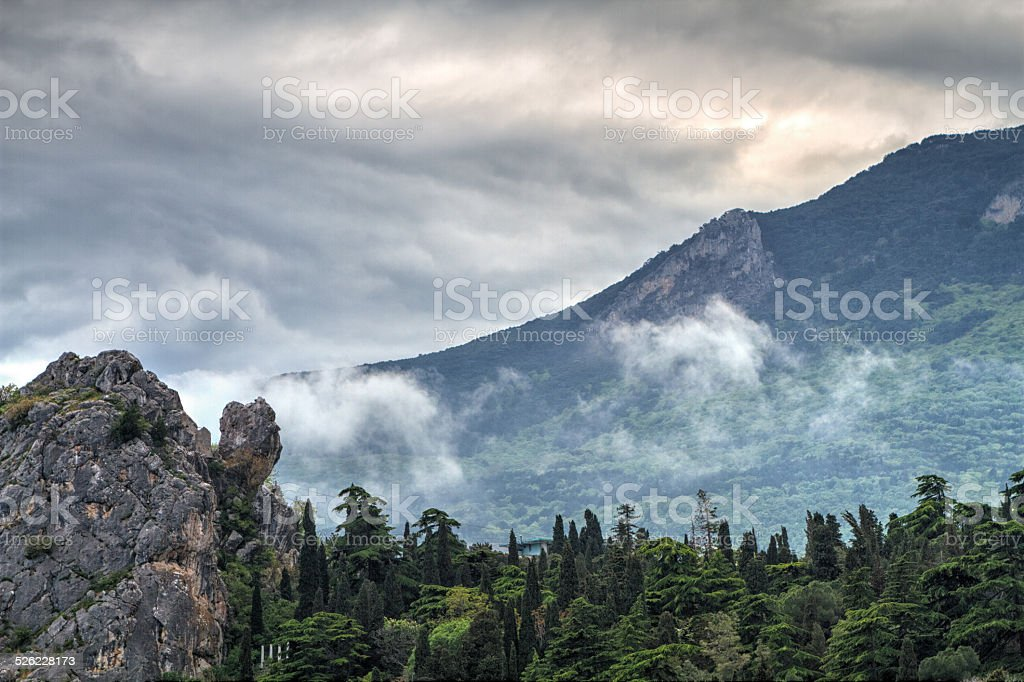 famous mount of Ayu-Dag stock photo