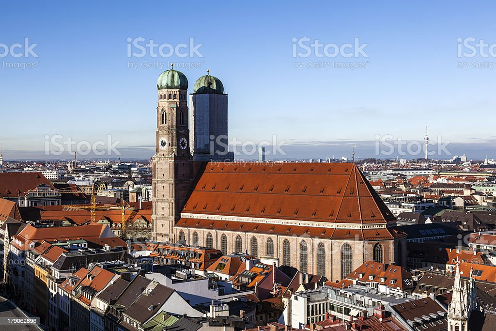 Famous Munich Cathedral - Liebfrauenkirche royalty-free stock photo
