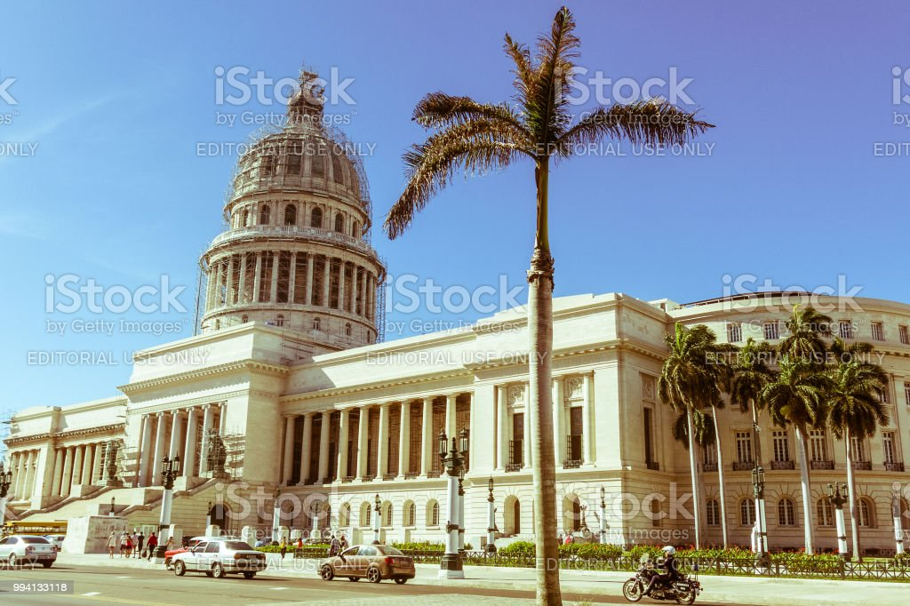 Famous National Capitol (Capitolio Nacional) building. The National Capitol Building was the seat of government in Cuba until the Cuban in 1959. stock photo