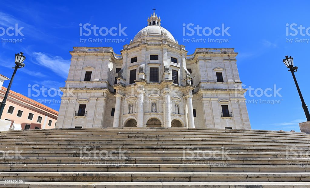 Famous National Pantheon in Lisbon, Portugal. stock photo