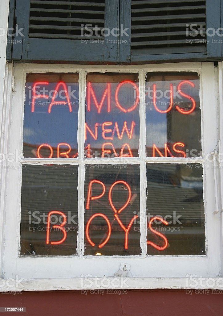 Famous New Orleans Po Boys royalty-free stock photo