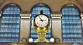 New York City, NY/ USA- 12-24-18:Famous New York City Grand Central Terminal Clock Vintage Architecture Design