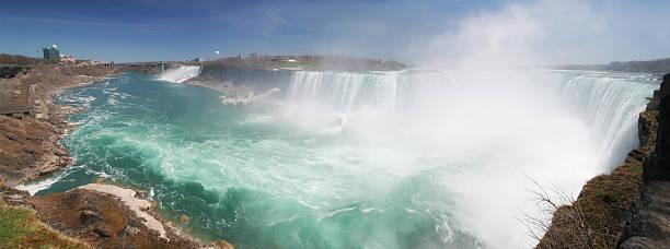 Famous Niagara Falls Panorama stock photo