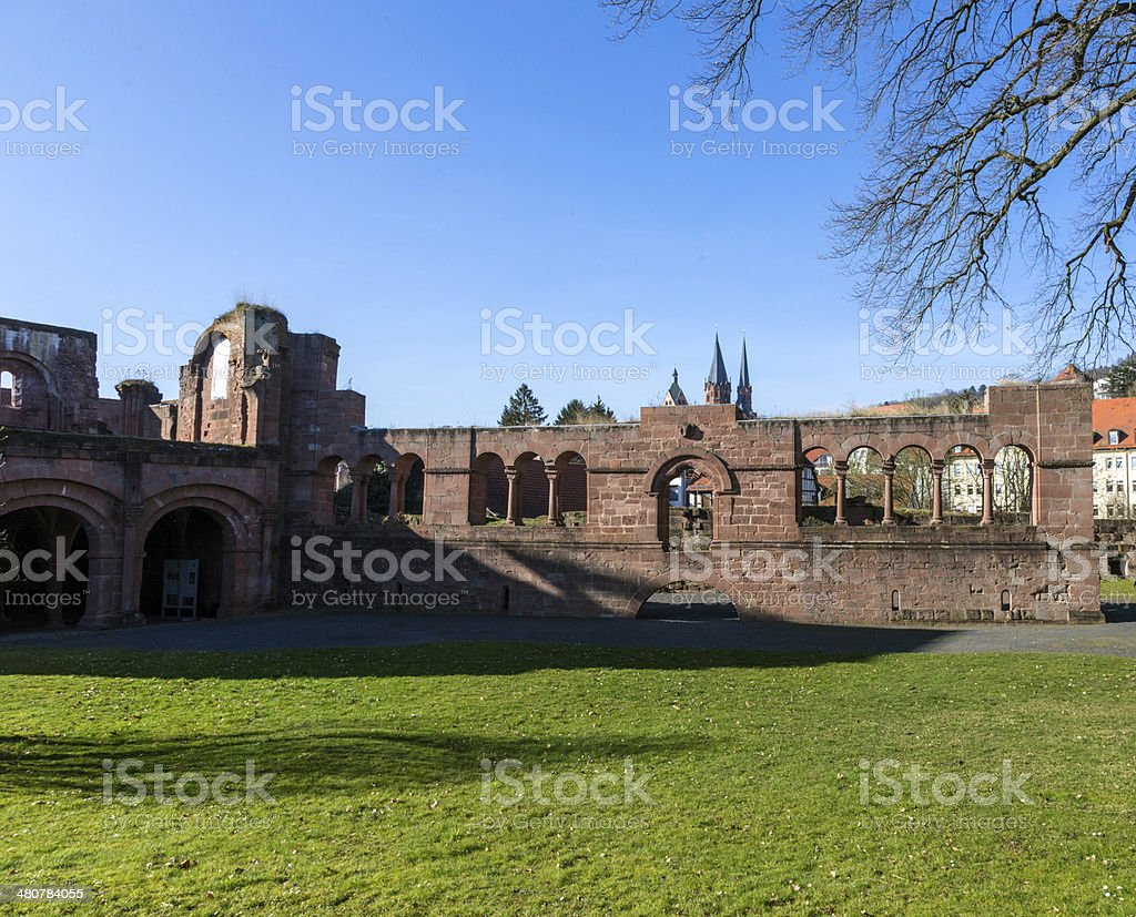 famous old castle from king Barbarossa, the Kaiserpfalz stock photo