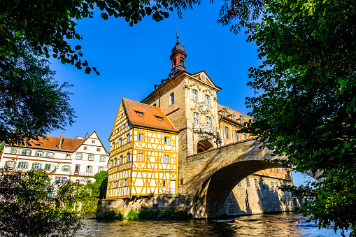 famous old town hall in bamberg
