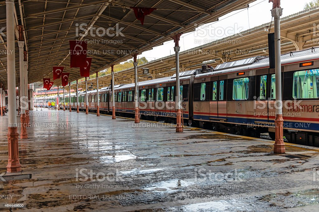 Famous orient express train station in Istanbul Turkey stock photo