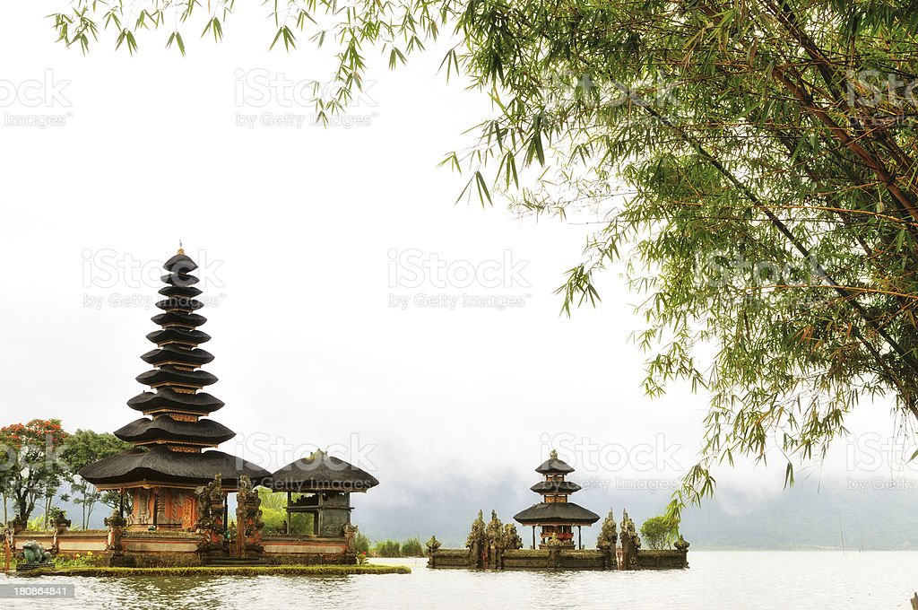 Famous oriental temple on the lake royalty-free stock photo